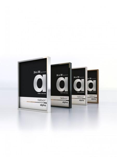 Nielsen Alpha Dark Grey Polished A4 Aluminium Frame  – image 2