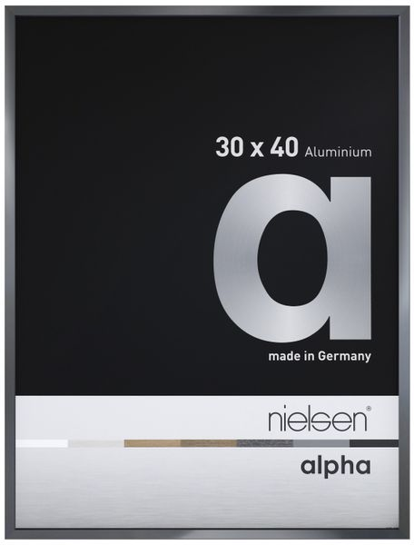 Nielsen Alpha Dark Grey Polished A4 Aluminium Frame