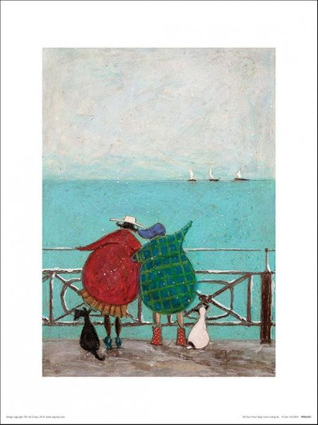 SAM TOFT (WE SAW THREE SHIPS COME SAILING BY) 30x40cm
