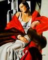"""Homage To T. De Lempicka - Portrait Of Madame Boucard 16X20 """" Oil Painting – image 2"""