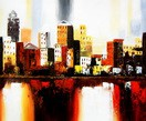 Abstract - New York Downtown  50x60 cm Oil Painting – image 2