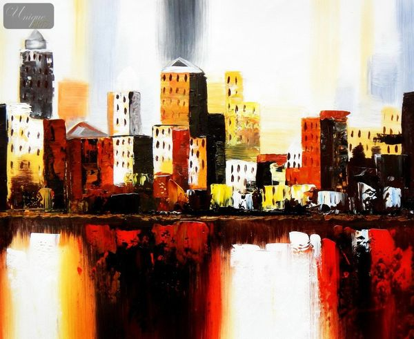 Abstract - New York Downtown  50x60 cm Oil Painting – image 1