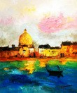 "Modern Art - Venice Grand Canal 20X24 "" Oil Painting – image 2"