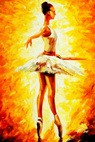 "Modern Art - Ballet Fire 24X36 "" Oil Painting – image 2"