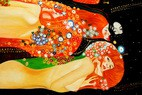 "Gustav Klimt - Waterserpents 24X36 "" Oil Painting – image 2"