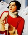 "Homage To T. Lempicka - Sain Moritz 16X20 "" Oil Painting – image 2"