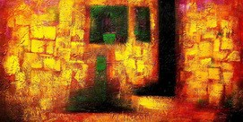 Abstract - Desert Storm 60x120 cm Oil Painting – image 2