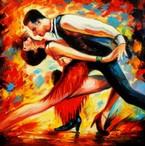 Modern Art - The Last Dance 60x60 cm Oil Painting – image 2