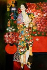 "Gustav Klimt - The Dancer 24X36 "" Oil Painting – image 2"