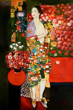 "Gustav Klimt - The Dancer 24X36 "" Oil Painting – image 1"