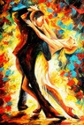 Modern Art - The Last Dance 60x90 cm Oil Painting – image 2