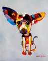 "Modern Art - Cute Chihuahua Dog 16X20 "" Oil Painting – image 2"