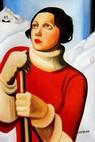 "Homage To T. Lempicka - Sain Moritz 24X36 "" Oil Painting – image 2"