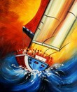 "Sailing On High Seas 20X24 "" Oil Painting  – image 2"