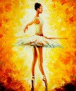 "Modern Art - Ballet Fire 20X24 "" Oil Painting – image 2"