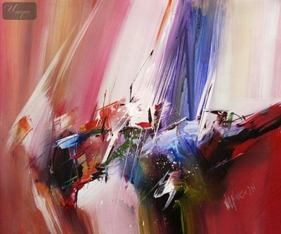 "Abstract - Color Space 20X24 "" Oil Painting – image 1"