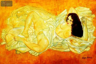 "Egon Schiele - Nude 62 24X36 "" Oil Painting – image 1"