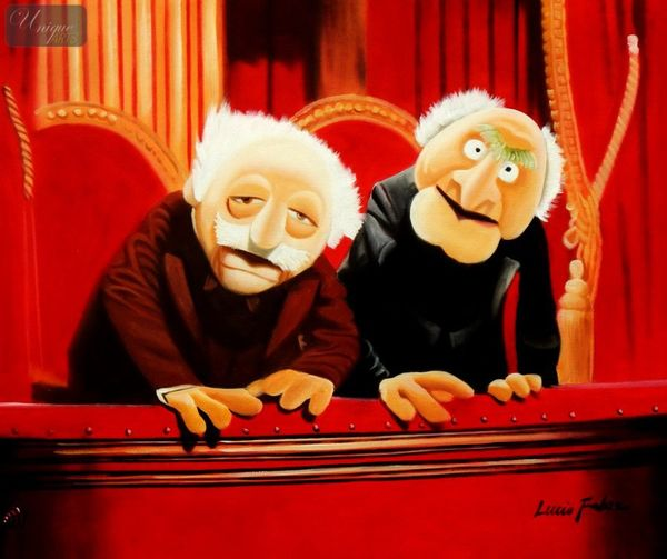 "Popart - Statler & Waldorf 20X24 "" Oil Painting"