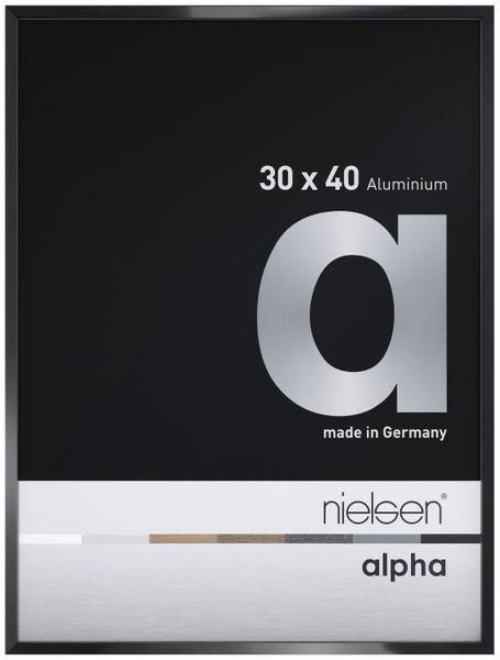 Alurahmen Alpha Eloxal Schwarz Glanz von Nielsen 50x70cm