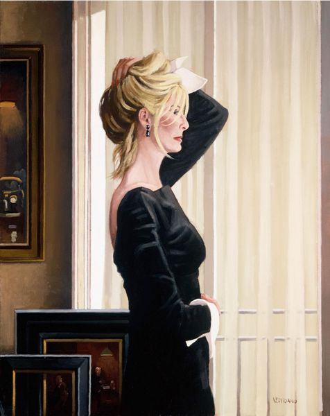 Jack Vettriano - Black on Blonde - Kunstdruck Limitierte Edition  - Hand Signiert 62,1x52,1cm