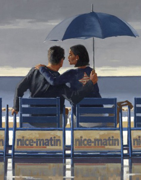 Jack Vettriano - Blue Blue - Limited Edition Print - Signed 52,7x63,5cm