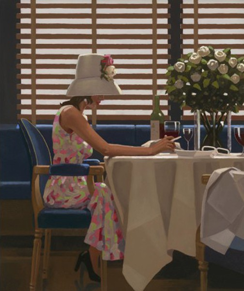 Jack Vettriano - Days of Wine and Roses - Limited Edition Print - Signed 64x54,5cm