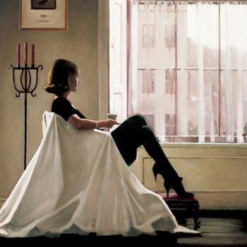 Jack Vettriano - In Thoughts of You - Limited Edition Print - Signed 40x34cm – image 1