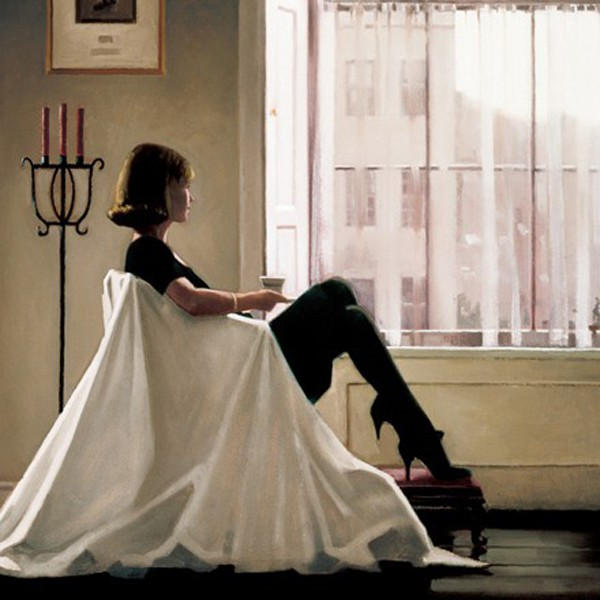 Jack Vettriano - In Thoughts of You - Kunstdruck Limitierte Edition  - Hand Signiert 40x34cm