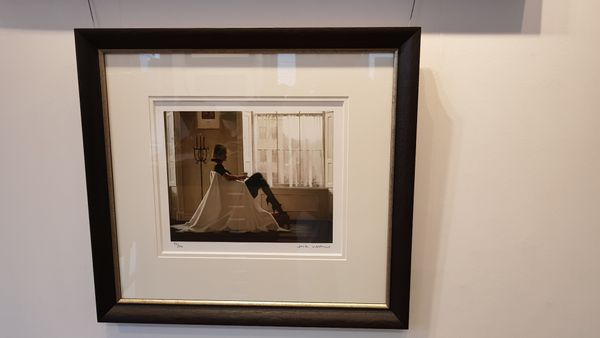 Jack Vettriano - In Thoughts of You - Limited Edition Print - Signed 40x34cm – image 3