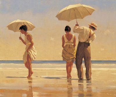 Jack Vettriano - Mad Dogs - Limited Edition Print - Signed 75,5x62cm