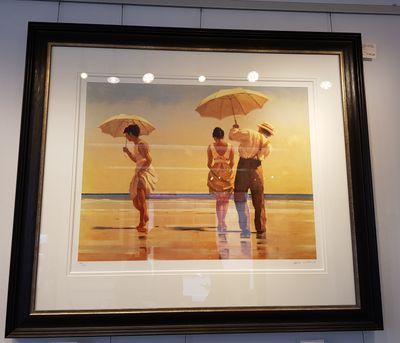 Jack Vettriano - Mad Dogs - Limited Edition Print - Signed 75,5x62cm – image 2
