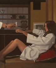 Jack Vettriano - Man of Mystery - Limited Edition Print - Signed 64x54,5cm 001