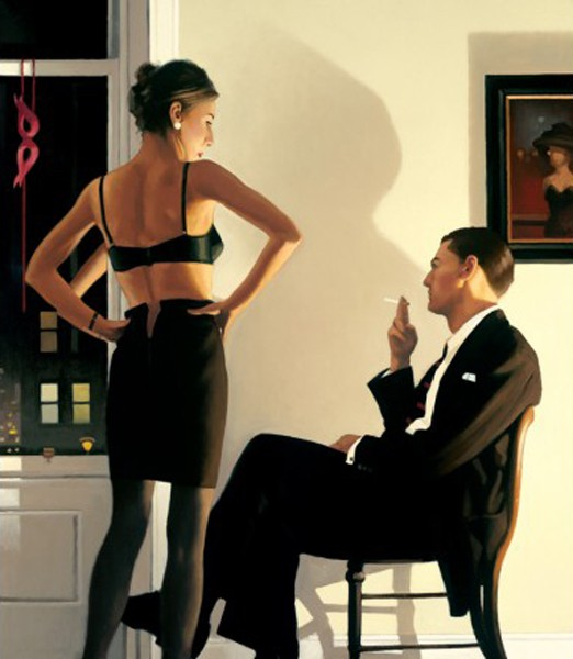 Jack Vettriano - Night In The City - Limited Edition Print - Signed