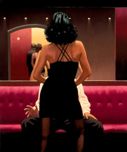 Jack Vettriano - Private Dancer - Limited Edition Print - Signed 72x58cm – image 1