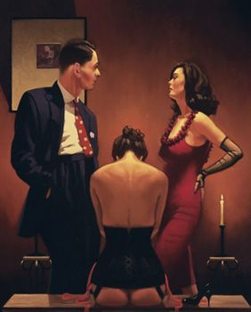Jack Vettriano - Scarlet Ribbons - Limited Edition Print - Signed