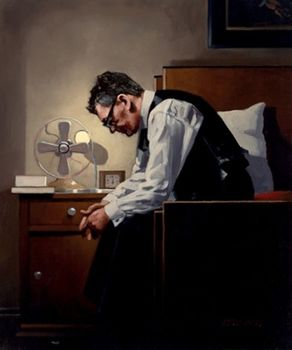 Jack Vettriano - The Weight - Limited Edition Print - Signed 67x60cm – image 1
