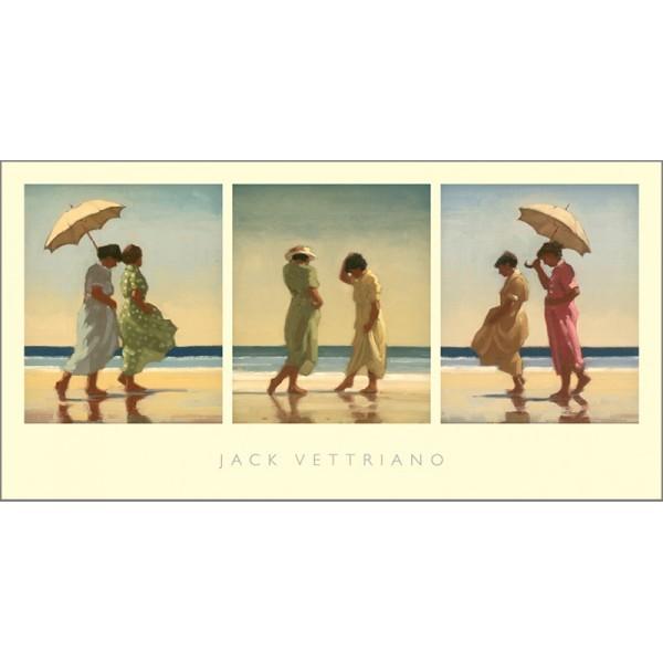 Jack Vettriano - Summer Days - Triptych - Art Print - 36x70cm