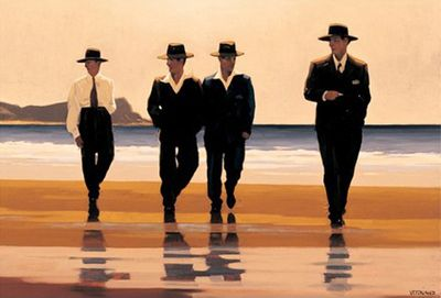 Jack Vettriano - The Billy Boys - Art Print - 40x50cm