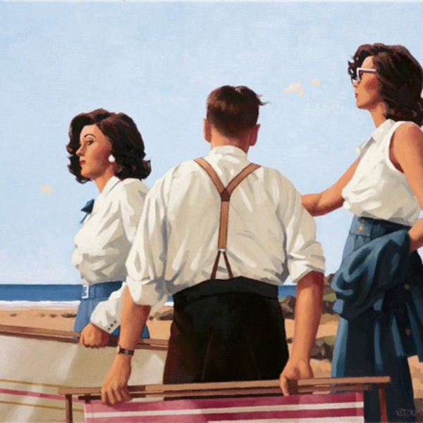 Jack Vettriano - Young Hearts - Art Print - 46x50cm