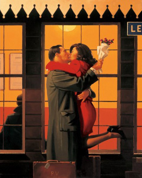 Jack Vettriano - Back Where You Belong - Art Print - 80x60cm
