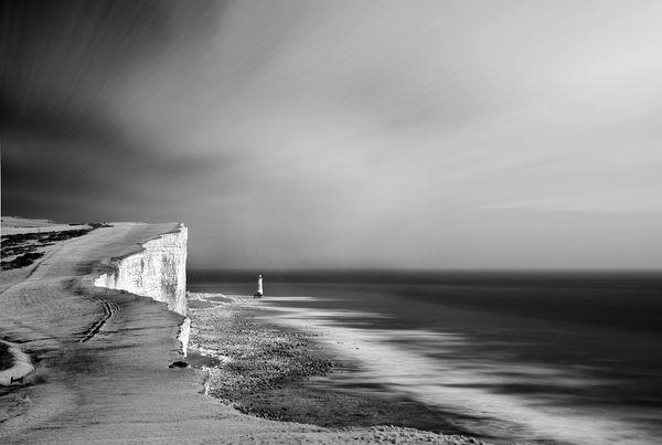 BeachyHeadLightHouseSea624 - Fineart Photography by David Freeman