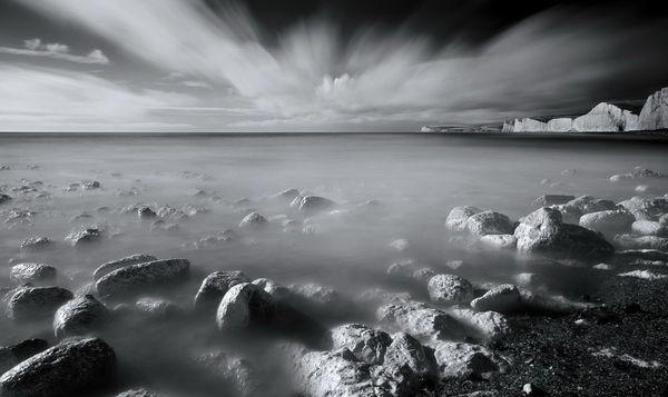BirlingGapInfrSea619b - Fineart Photography by David Freeman