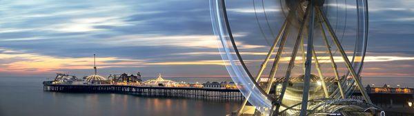 Pier&WheelCity636 - Fineart Photography by David Freeman