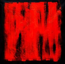 Abstract - Black Ruby 120x120 cm Oil Painting 001