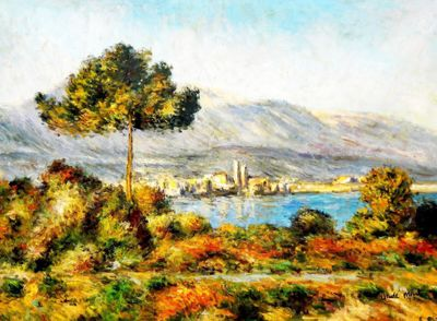 Claude Monet - View Of Antibes From The Notre Dame 80x110 cm Reproduction Oil Painting