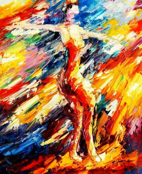 "Modern Art - Passionate Dancer 20X24 "" Oil Painting"