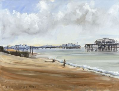 """ Brighton Piers"" by Tony Parsons Limited Edition Print"