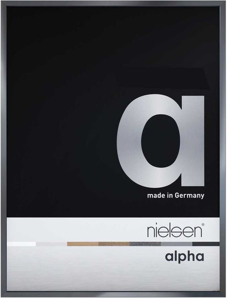 Nielsen Alpha A2 Dark Grey Polished Picture Frame