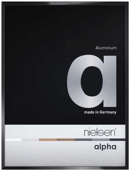 Nielsen Alpha A1 Jet Polished Black Picture Frame