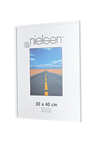 Nielsen Pearl 40x50 cm Glossy White Picture Frame